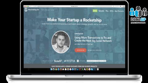 Para o empreendedor ouvir conselhos Rocketship.fm